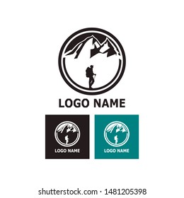 cool logo for mountaineer or hiker