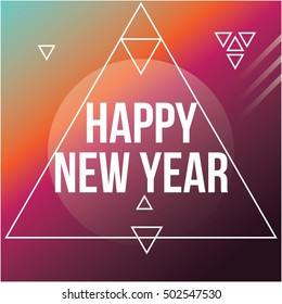 Cool modern New Year poster