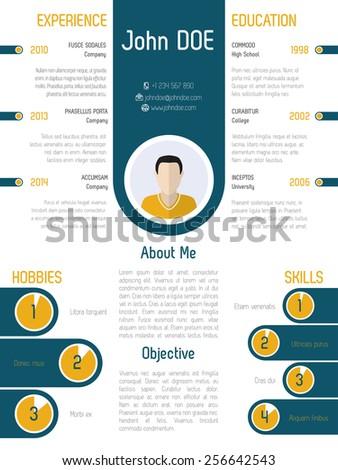 Cool Modern Resume Curriculum Vitae Design Stock Vector Royalty