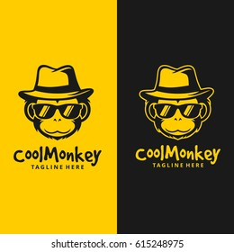 Cool Monkey Logo / Monkey Head Vector