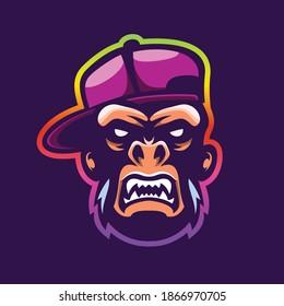 Cool Monkey Mascot Illustration Vector