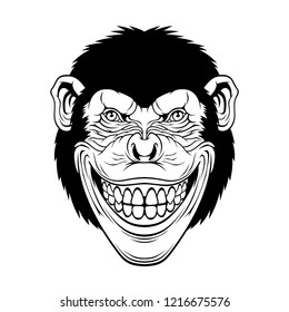 Cool Monkey for t-shirt and other uses.