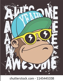 Cool monkey vector design