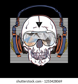 Cool music poster with skull.