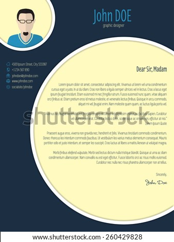 cool new modern cover letter template with circle elements