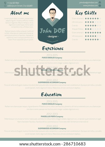 Cool New Modern Resume Cv Curriculum Stock Vector Royalty Free