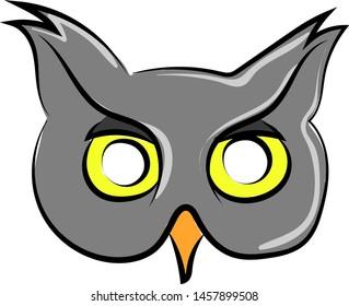 Cool owl mask, illustration, vector on white background.