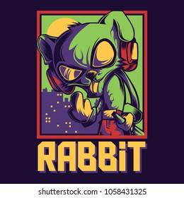 Cool Rabit Illustration