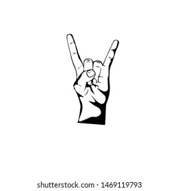 cool rock and roll / metal hand drawings in black and white