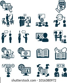 Cool Set of Online Education Related Vector Line Icons. Contains such Icons as Video Tutorial, Workshops, On-line Lecture, Education Plan and more.