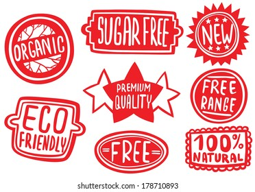 Cool Set of Stickers for Quality Products