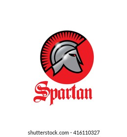 Cool slick spartan warrior shiny helmet icon vector illustration isolated over white background