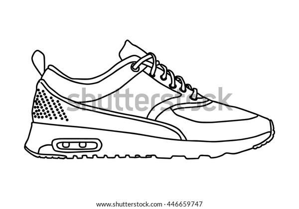 395662920 Vector de stock (libre de regalías) sobre Cool Sneaker Vector Sketch ...