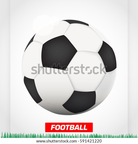 Cool Soccer Ball Football Stock Vector Royalty Free 591421220