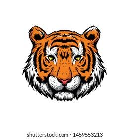 cool sumatran tiger head vector