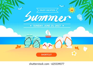 Cool summer sea and beach