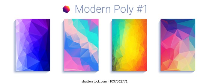 cool triangular gradient background. Modern abstract geometric pattern. Bright colorfull wallpaper. Backdrop for cover, presentation, web. Trendy vector illustration