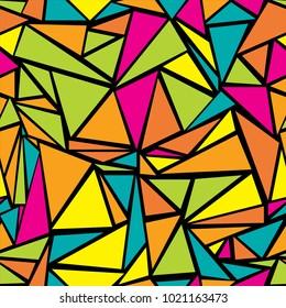 Cool triangular grid geometric seamless pattern. Minimal triangles polygonal tile. Diamond triangle brochure minimal vector for advertising.