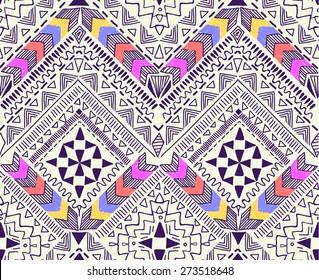 Cool tribal geometric design ~ seamless background