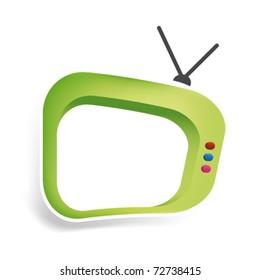 Cool tv in vector art