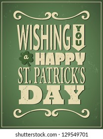Cool typographic design for St. Patrick's Day.