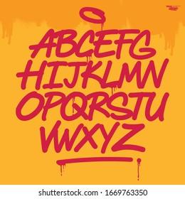 Cool Vector Alphabet in Graffiti Style