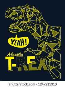 Cool vector dinosaur design for t shirt.