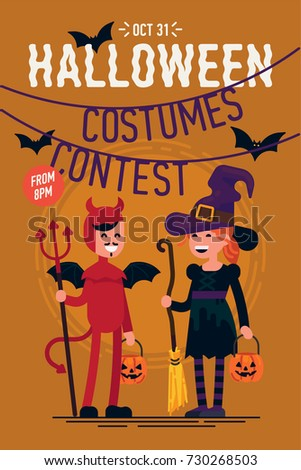 cool vector template on halloween costumes stock vector royalty