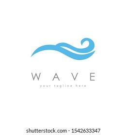 Cool wave logo template. A dynamic logo perfect for sea related sports and activities, business related to sea services such as surf, restaurants, hotel, etc. Vector illustration