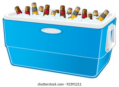 Cooler with beer