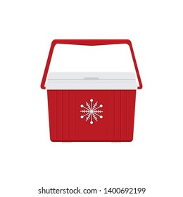 Cooler ice box isolated on white background cartoon vector