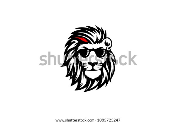 Coolest Lion Sunglasses Stock Vector Royalty Free 1085725247
