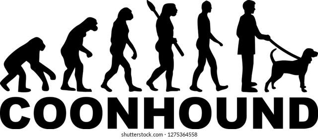 Coonhound evolution development with silhouette