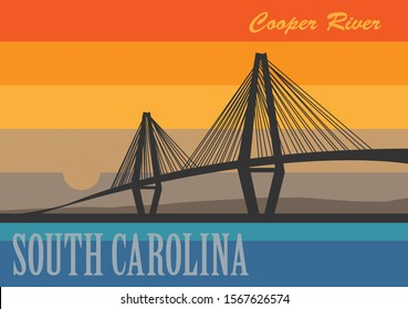 Cooper River Bridge over the Cooper River in South Carolina, United States