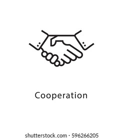 Cooperation Vector Line Icon