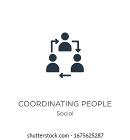 Coordinating people icon vector. Trendy flat coordinating people icon from social collection isolated on white background. Vector illustration can be used for web and mobile graphic design, logo,
