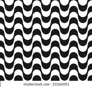 Copacabana waves seamless vector.