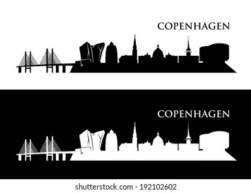 Copenhagen skyline - vector illustration