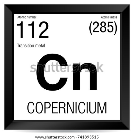 Copernicium Symbol Element Number 112 Periodic Stock Vector Royalty