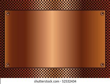 Copper toned metallic background