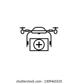 copter, drone, ambulance, emergency icon. Element of quadrocopter icon. Thin line icon for website design and development, app development. Premium icon