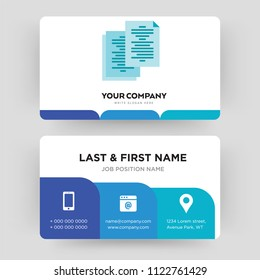 Copy paste icon images stock photos vectors shutterstock copy business card design template visiting for your company identity card vector illustration reheart Choice Image