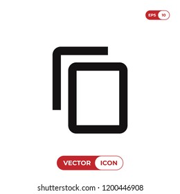 Copy content vector icon. Copy file,document symbol. Flat vector sign isolated on white background. Simple vector illustration for graphic and web design.