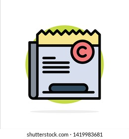 Copy, Copyright, Restriction, Right, File Abstract Circle Background Flat color Icon