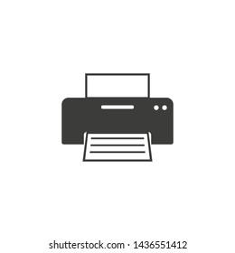 Copy, device, printer icon. Vector illustration, flat design.