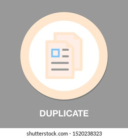 Copy or Duplicate document icon - web page symbol - office file format