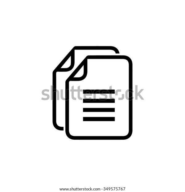 Copy file icon. Duplicate document symbol.