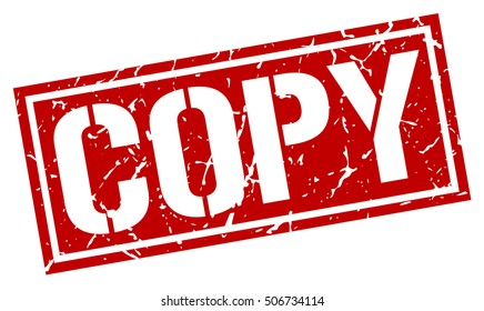copy. grunge vintage copy square stamp. copy stamp.