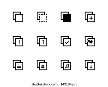 Copy Paste Icons for Apps, Presentations, Web Pages. Vector illustration.