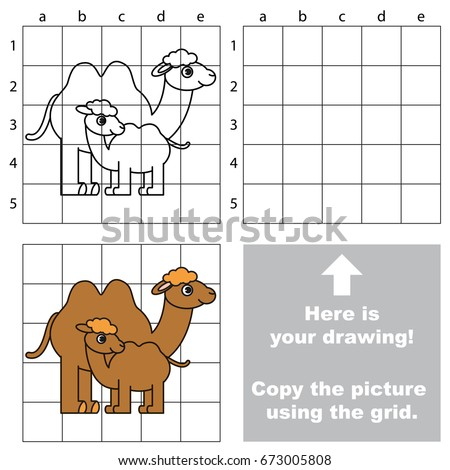 Copy Picture Using Grid Lines Simple Stock Vector Royalty Free